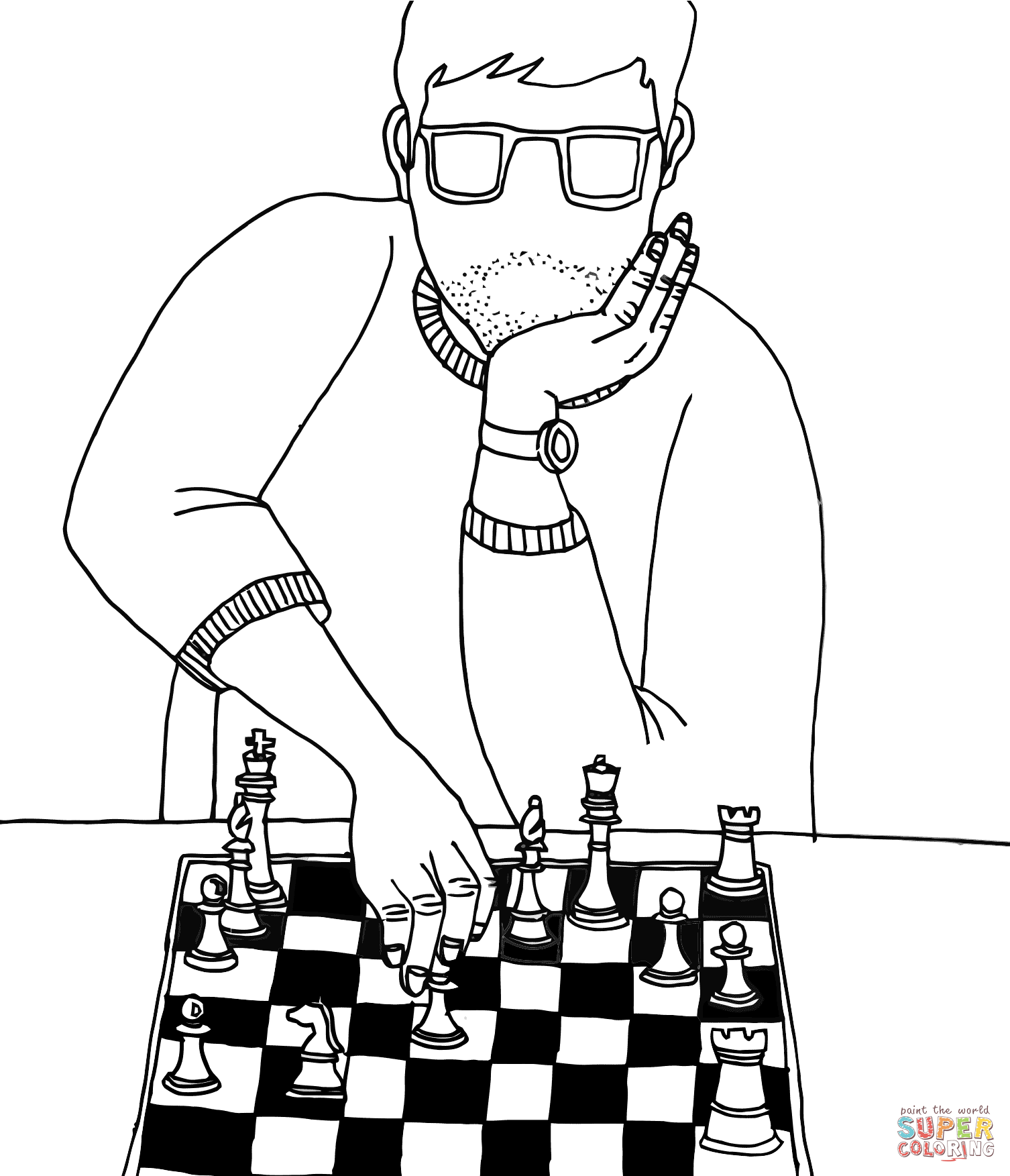 Chess coloring #12, Download drawings