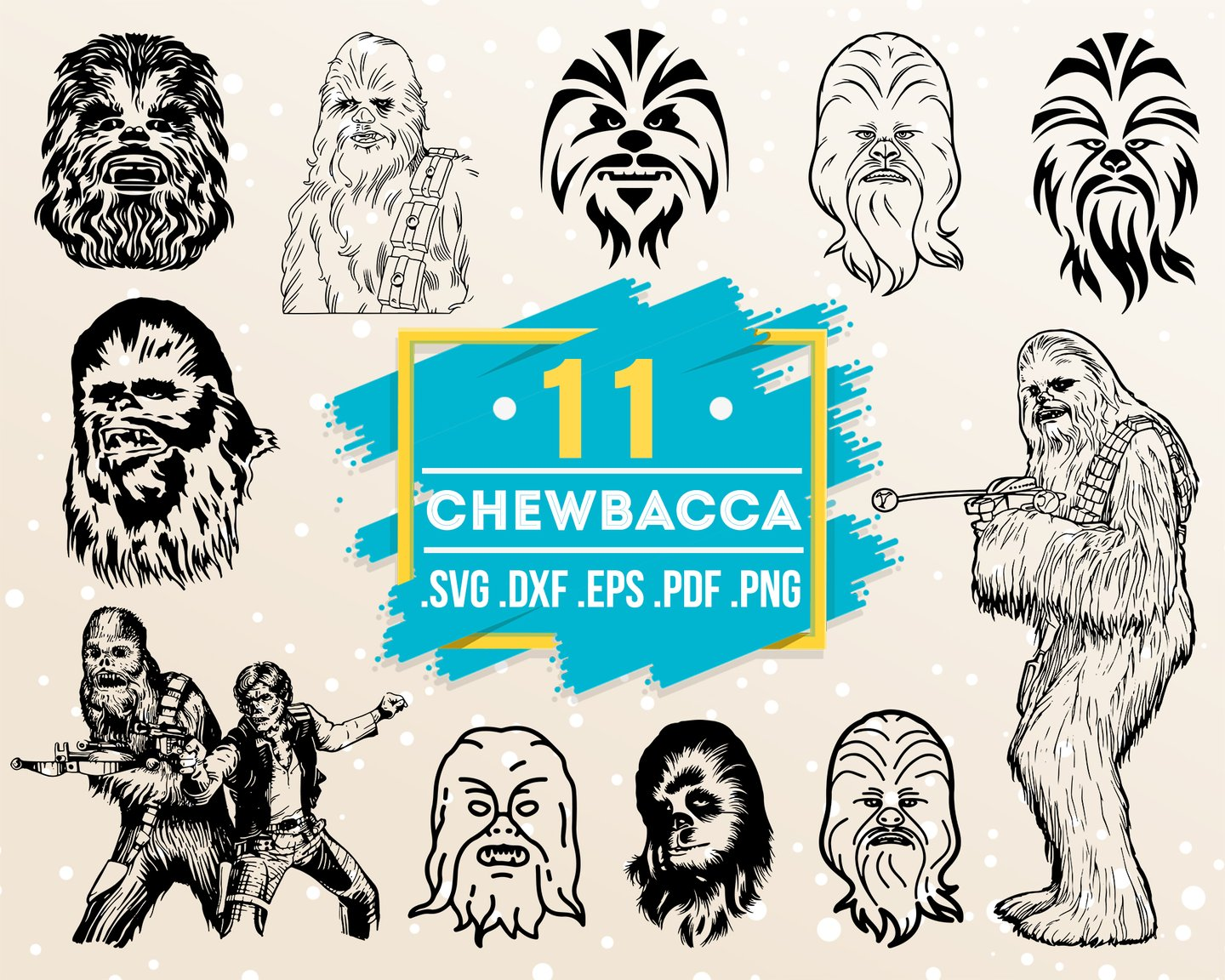 chewbacca svg #1052, Download drawings