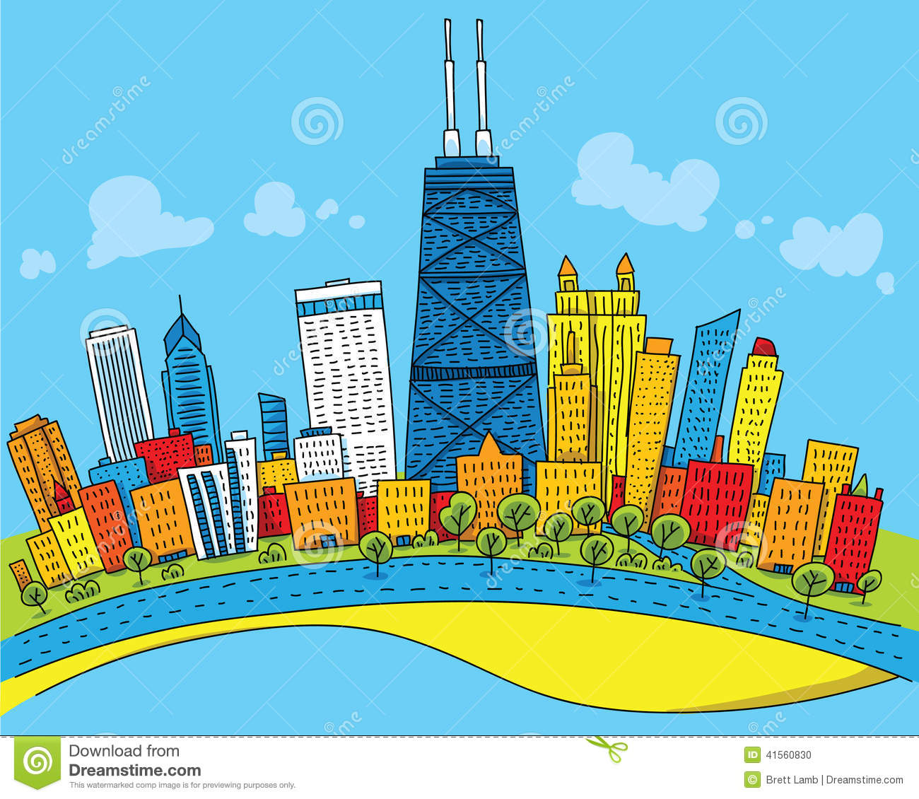 Chicago clipart #13, Download drawings