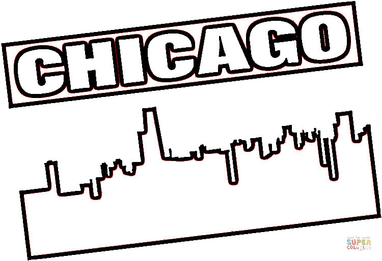 Chicago coloring #6, Download drawings