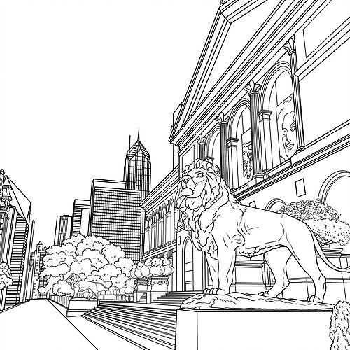 Chicago coloring #9, Download drawings