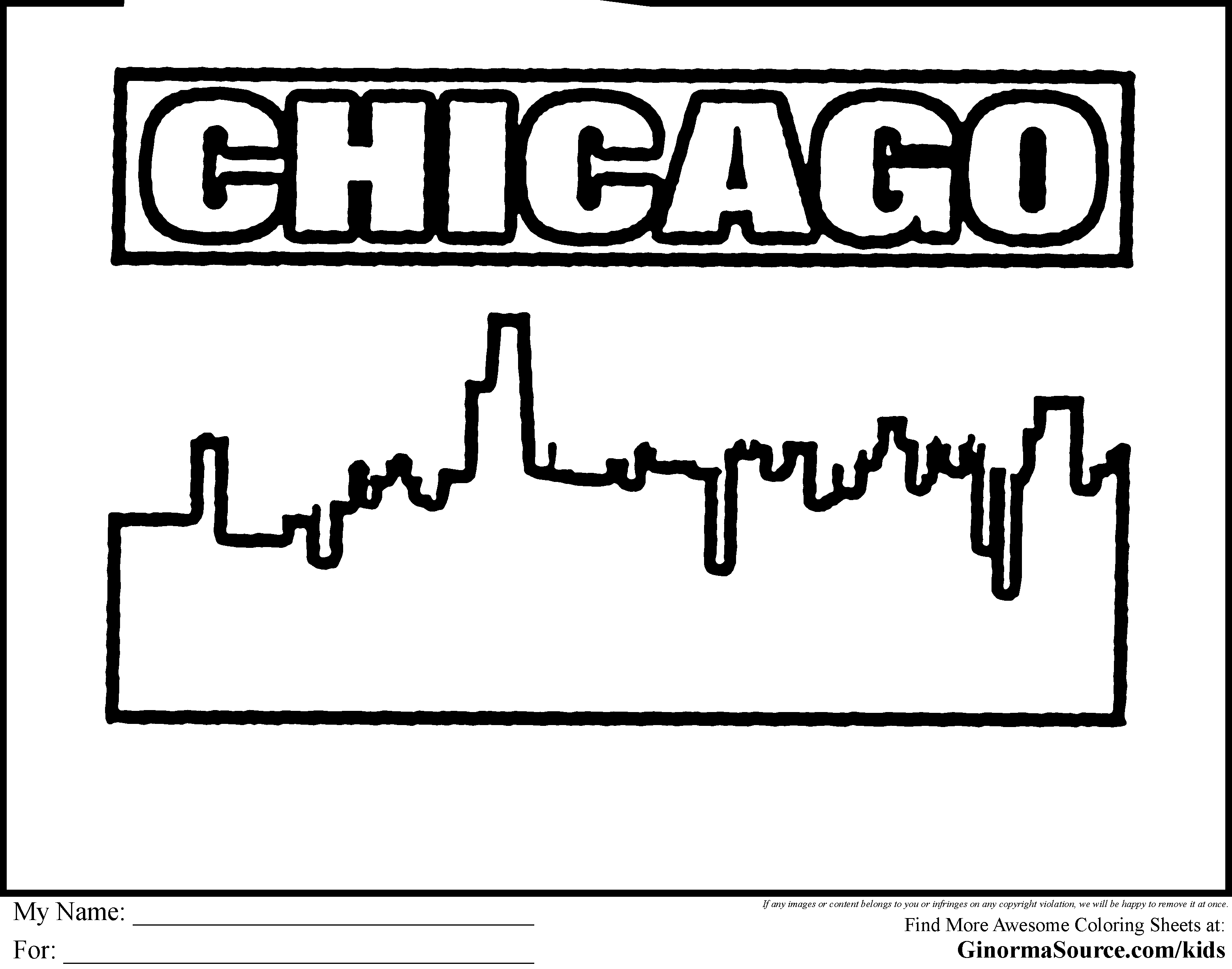 Chicago coloring #8, Download drawings