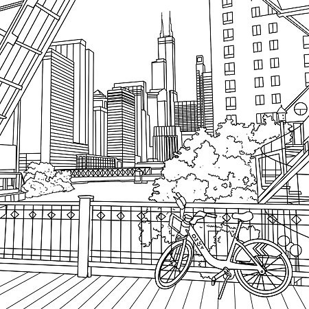 Chicago coloring #16, Download drawings
