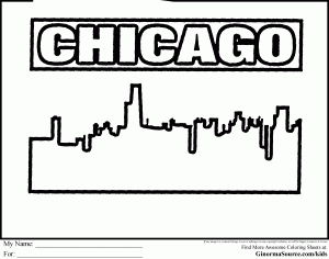 Chicago coloring #14, Download drawings