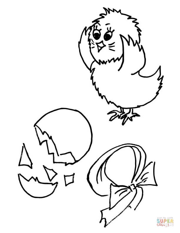 Chick coloring #8, Download drawings