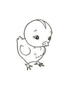 Chick coloring #2, Download drawings