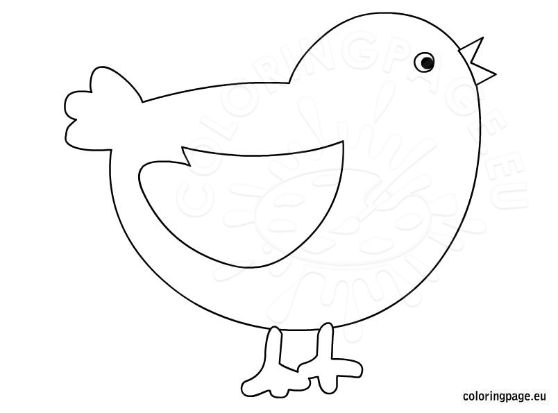 Chick coloring #1, Download drawings