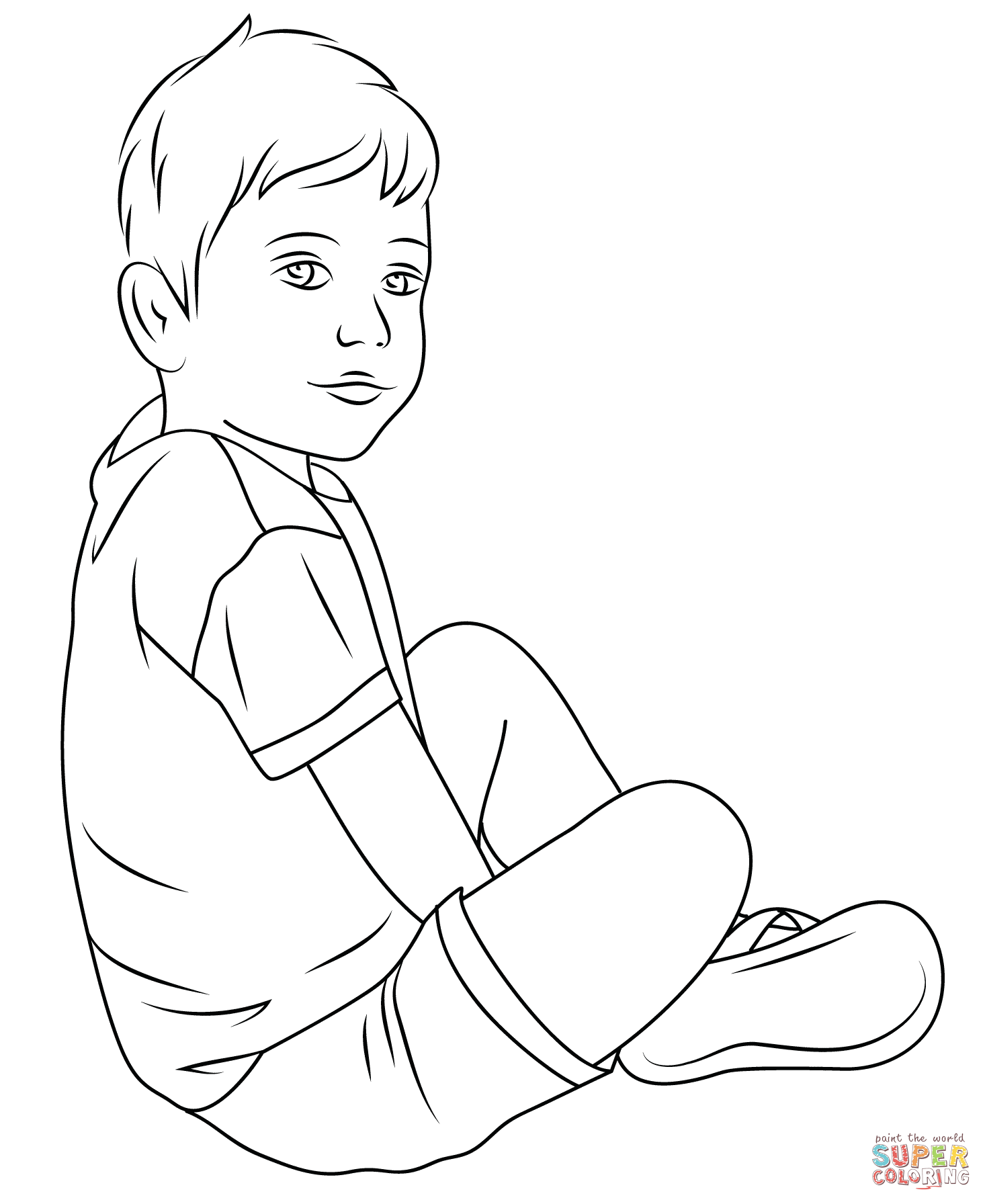 Child coloring #17, Download drawings