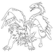 Chimera coloring #14, Download drawings