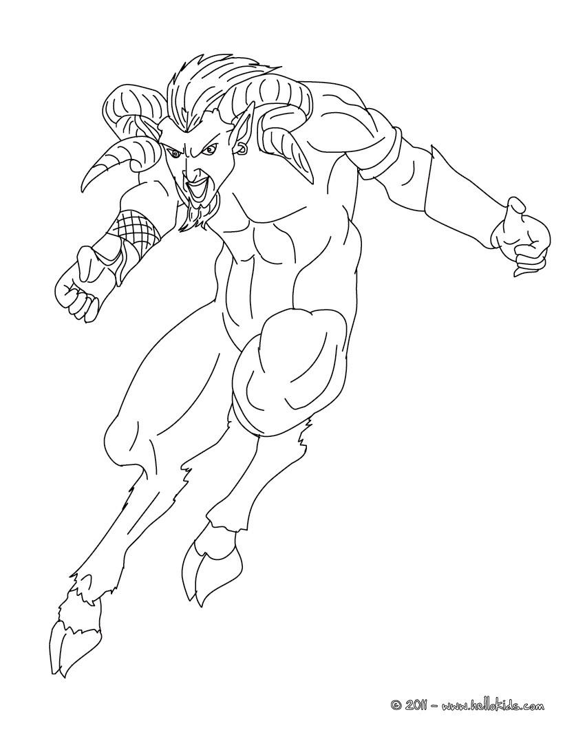 Satyr coloring #20, Download drawings