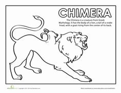Chimera coloring #6, Download drawings