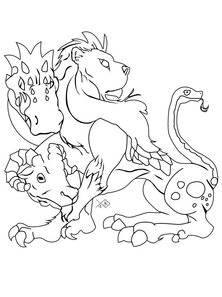 Chimera coloring #7, Download drawings