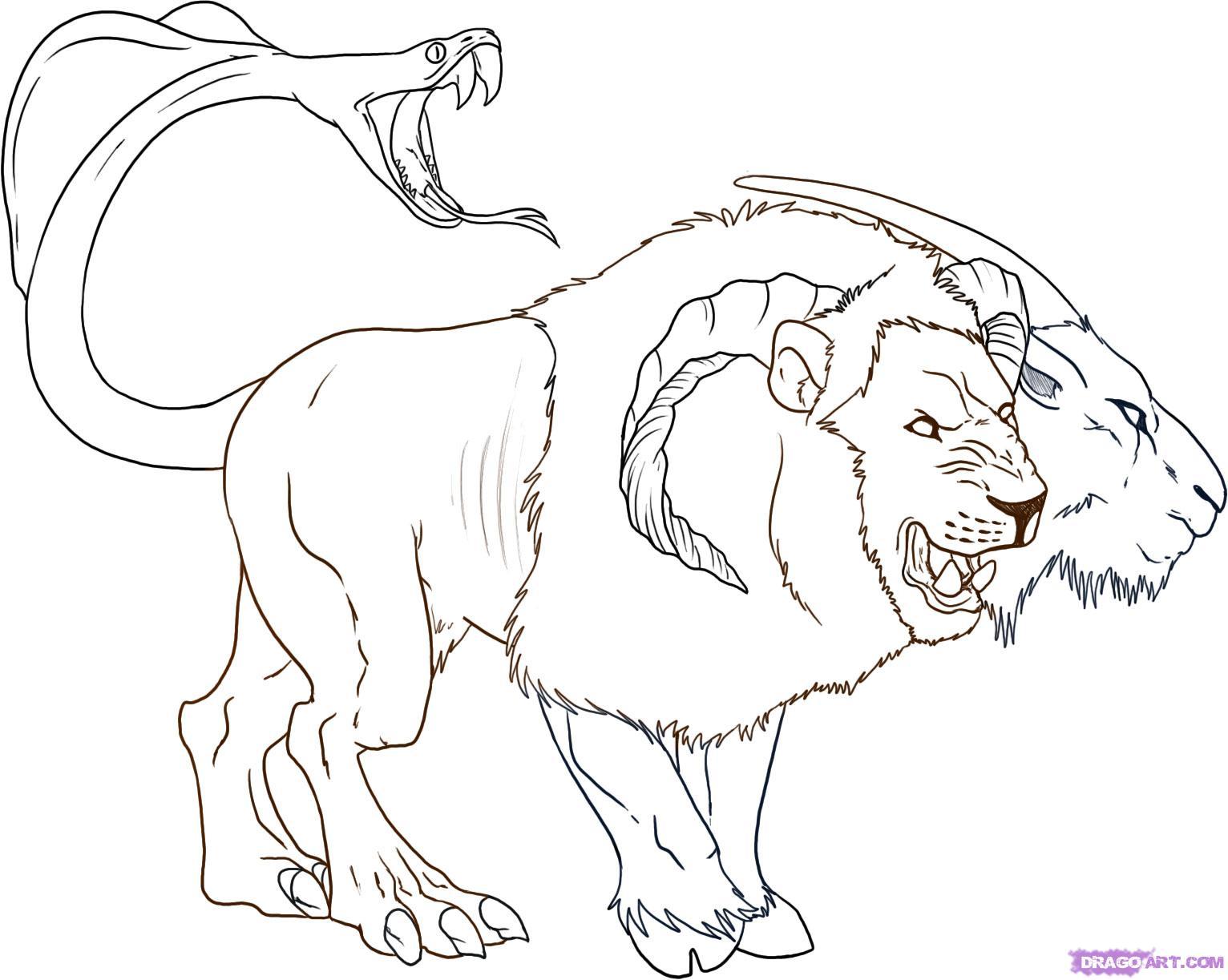 Chimera coloring #5, Download drawings