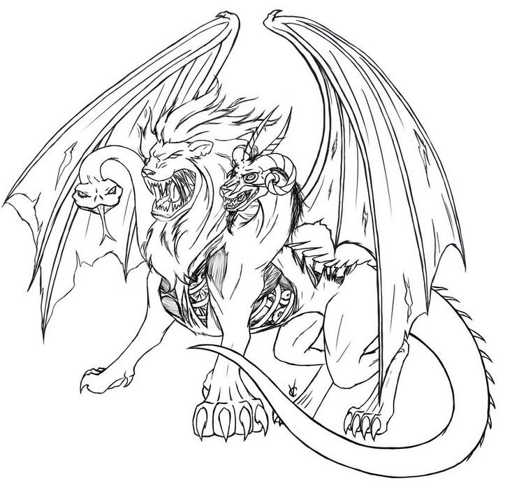 Chimera coloring #10, Download drawings