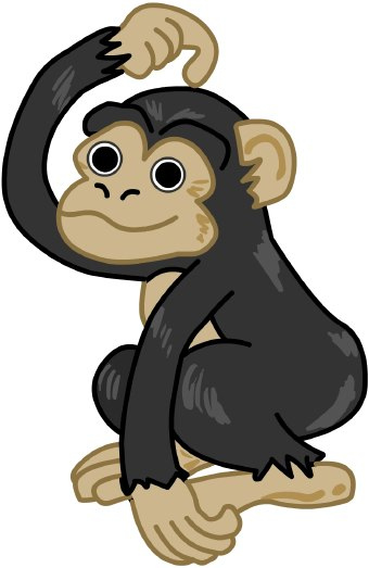 Chimpanzee clipart #8, Download drawings