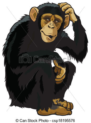 Chimpanzee clipart #1, Download drawings