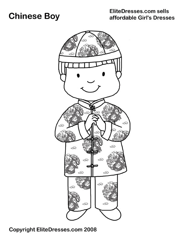 Chinese coloring #5, Download drawings