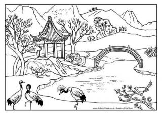 Chinese coloring #9, Download drawings