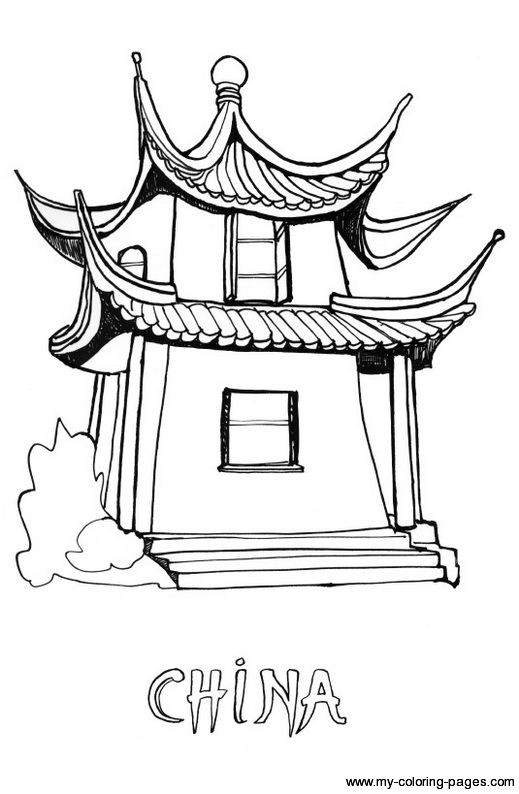 Chinese coloring #15, Download drawings
