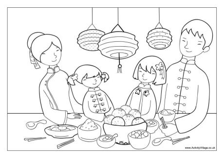 Chinese coloring #7, Download drawings