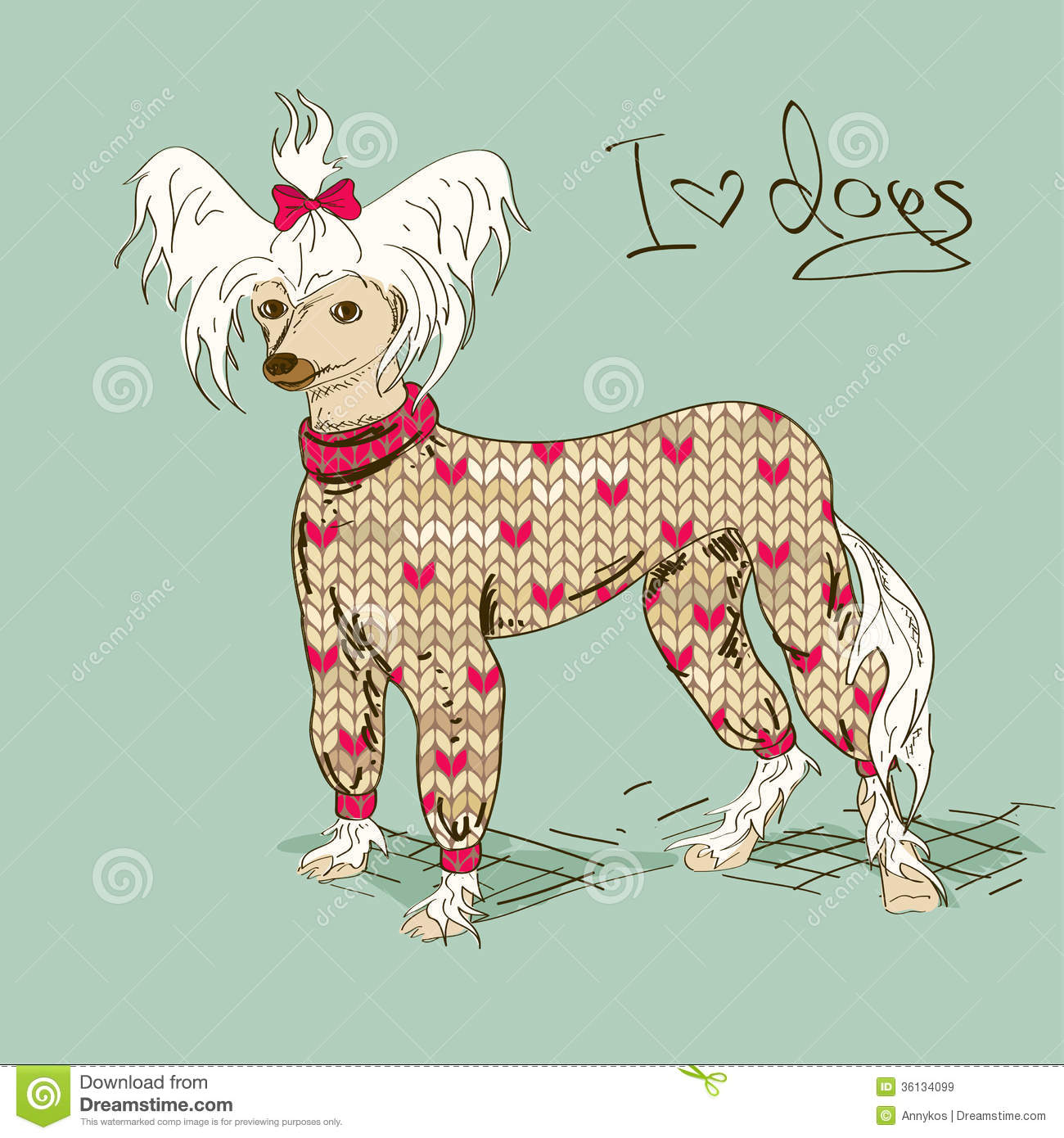 Chinese Crested Dog clipart #2, Download drawings