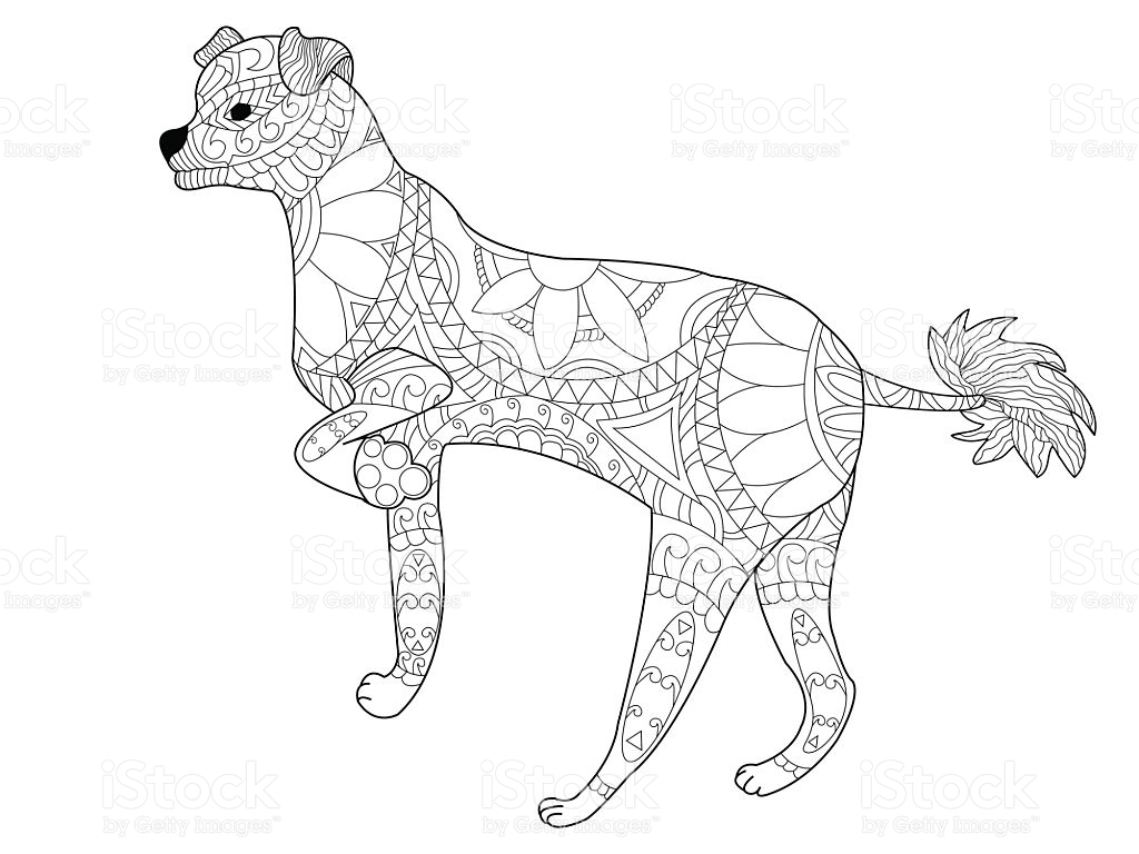 Chinese Crested Dog coloring #14, Download drawings