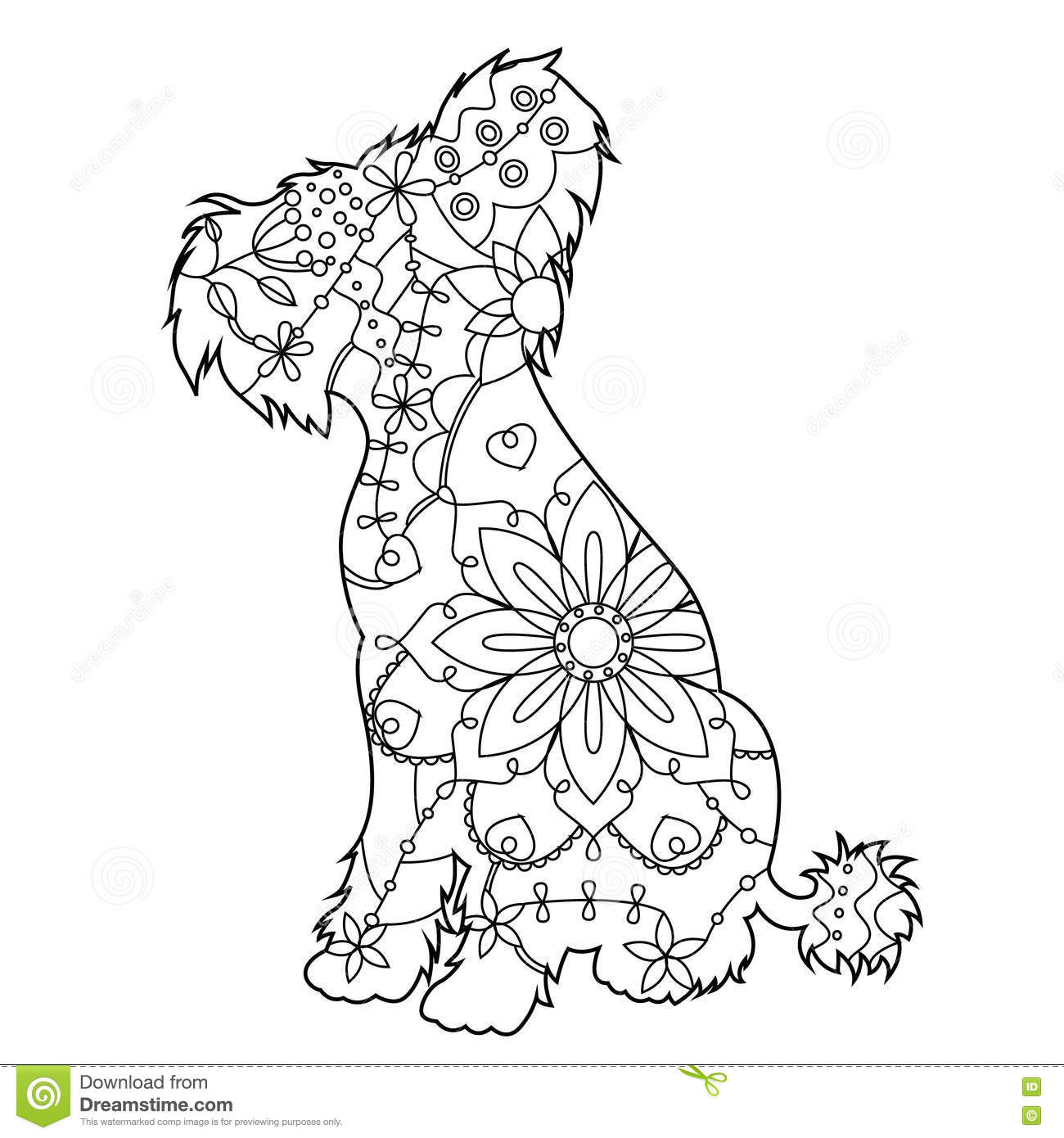 Chinese Crested Dog coloring #17, Download drawings