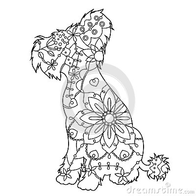 Chinese Crested Dog coloring #13, Download drawings