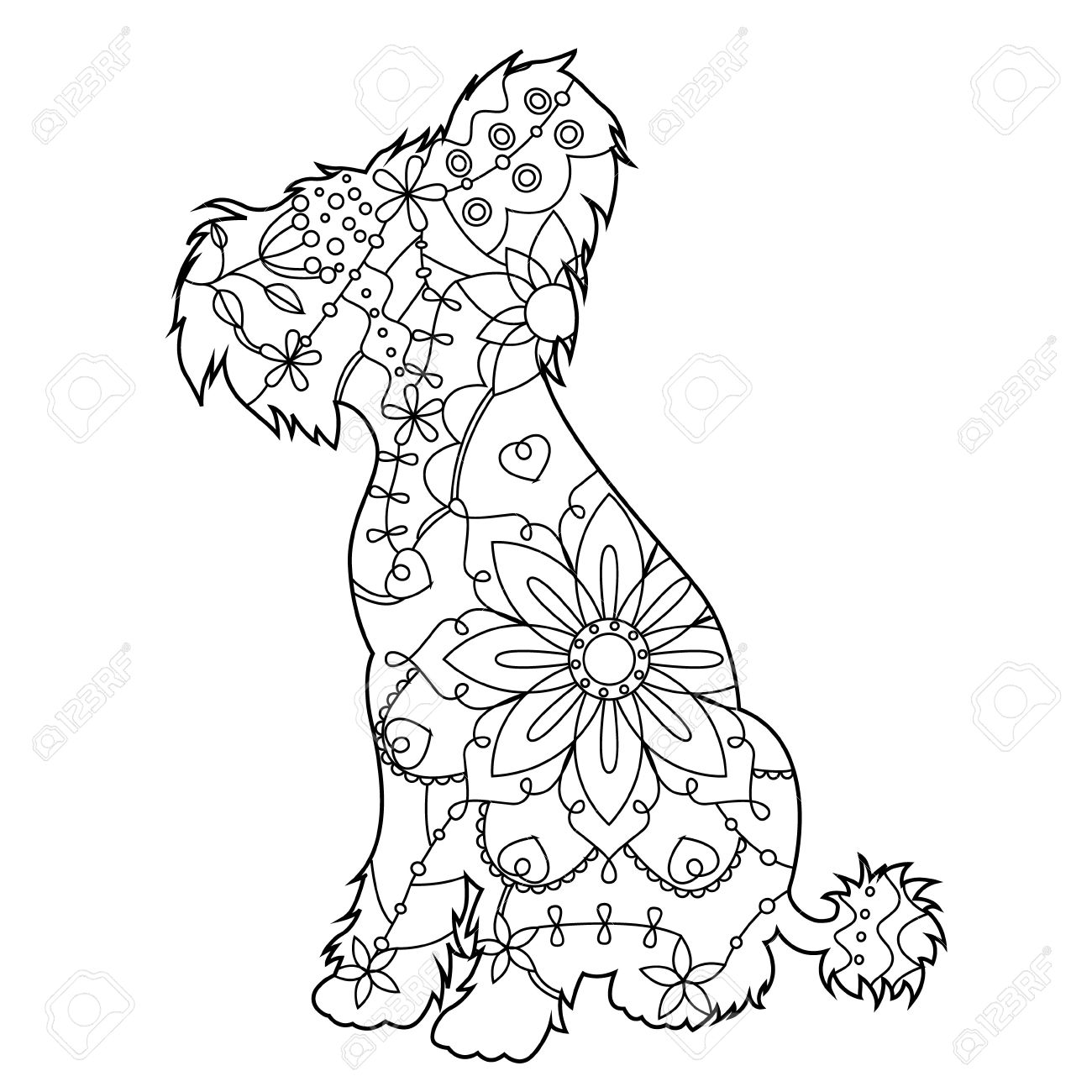 Chinese Crested Dog coloring #20, Download drawings