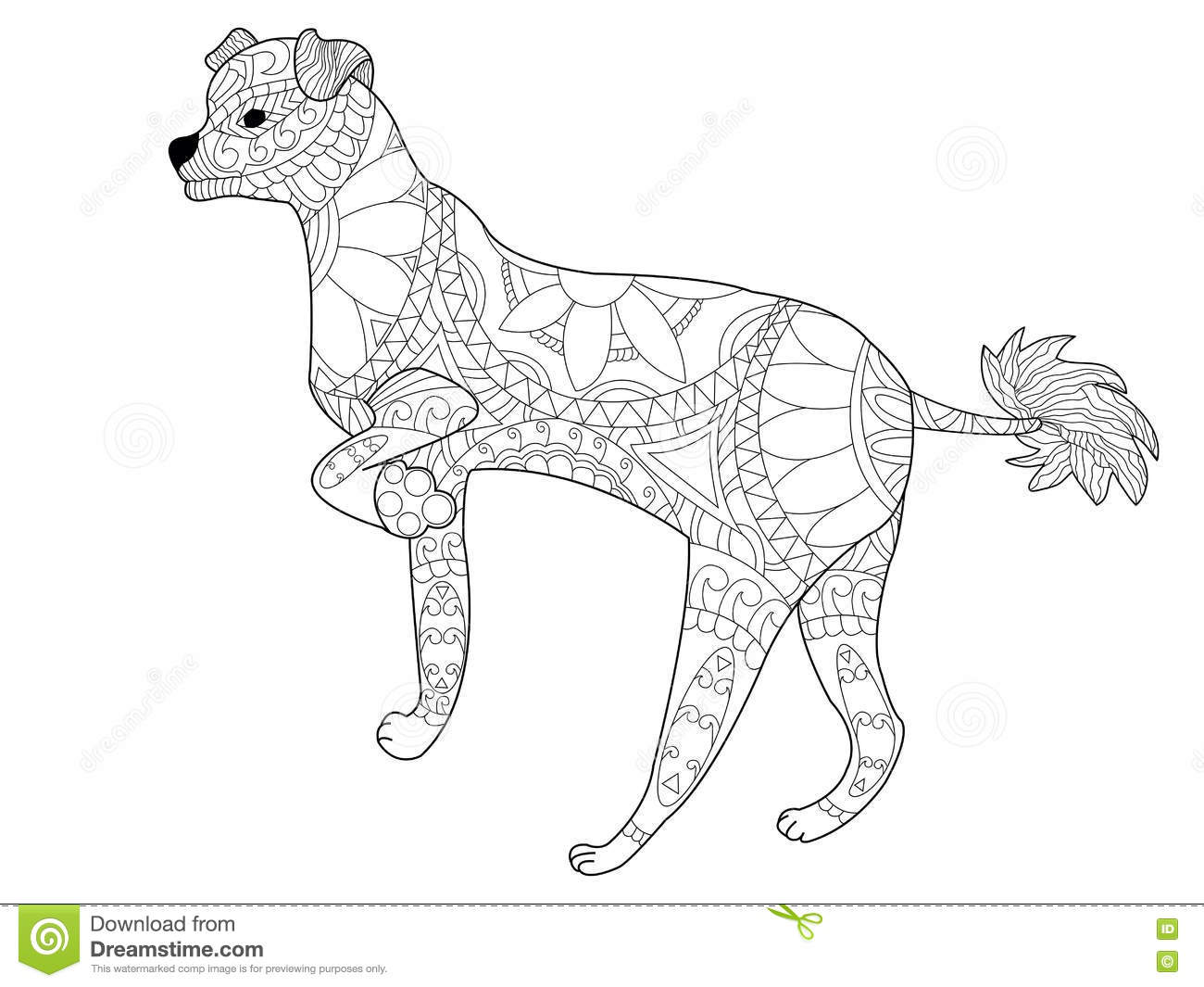 Chinese Crested Dog coloring #6, Download drawings