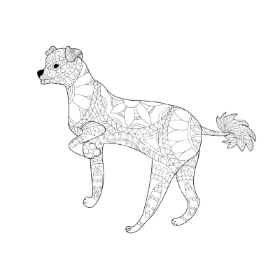 Chinese Crested Dog coloring #7, Download drawings