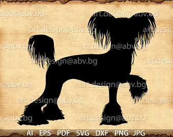 Chinese Crested Dog svg #17, Download drawings