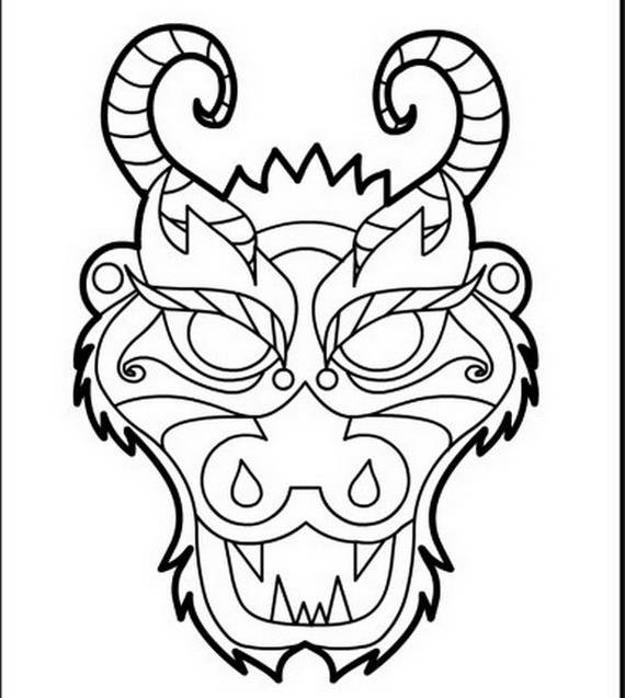 Chinese Dragon coloring #14, Download drawings