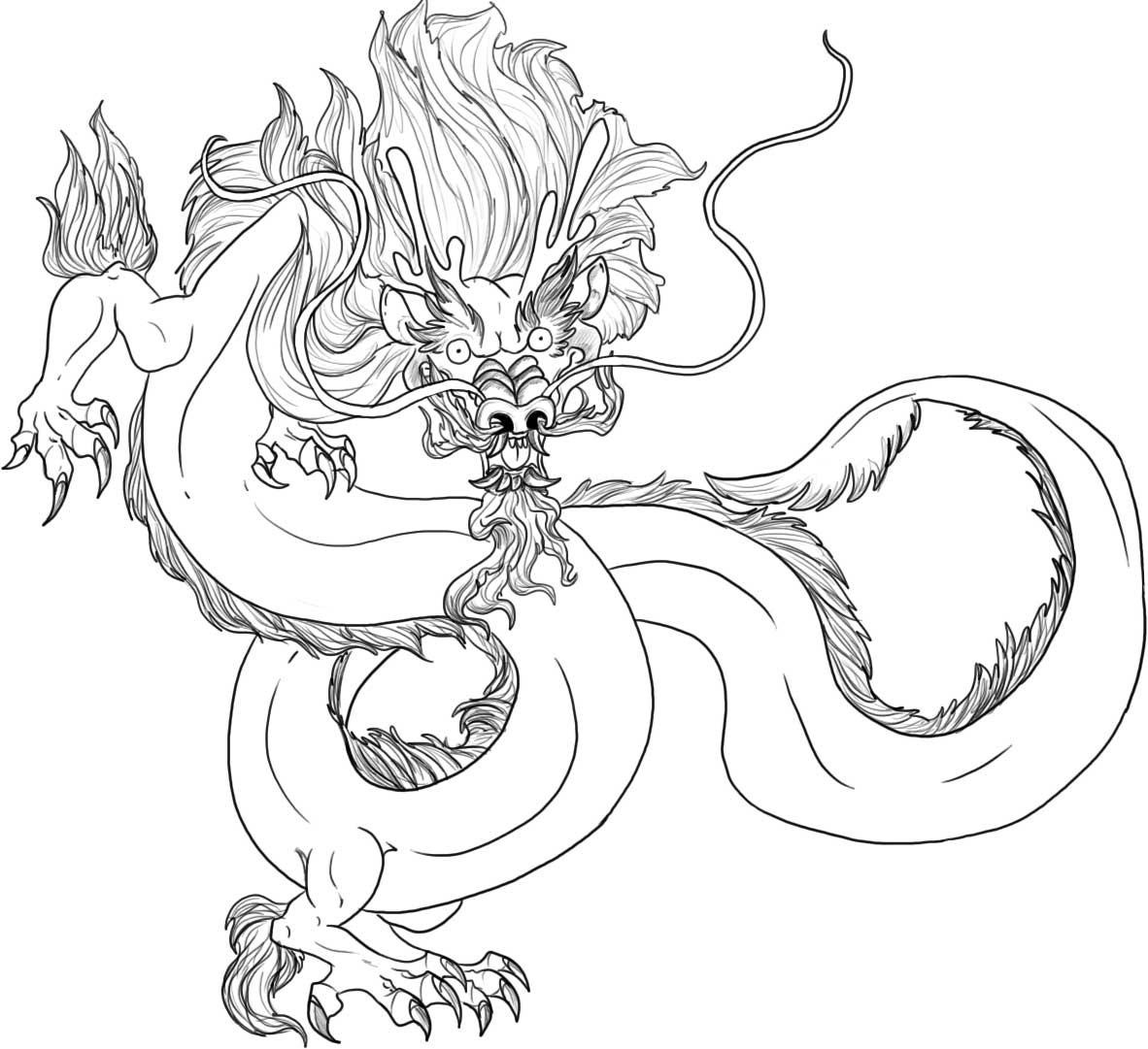 Chinese Dragon coloring #16, Download drawings
