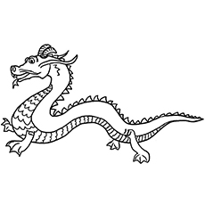 Chinese Dragon coloring #7, Download drawings