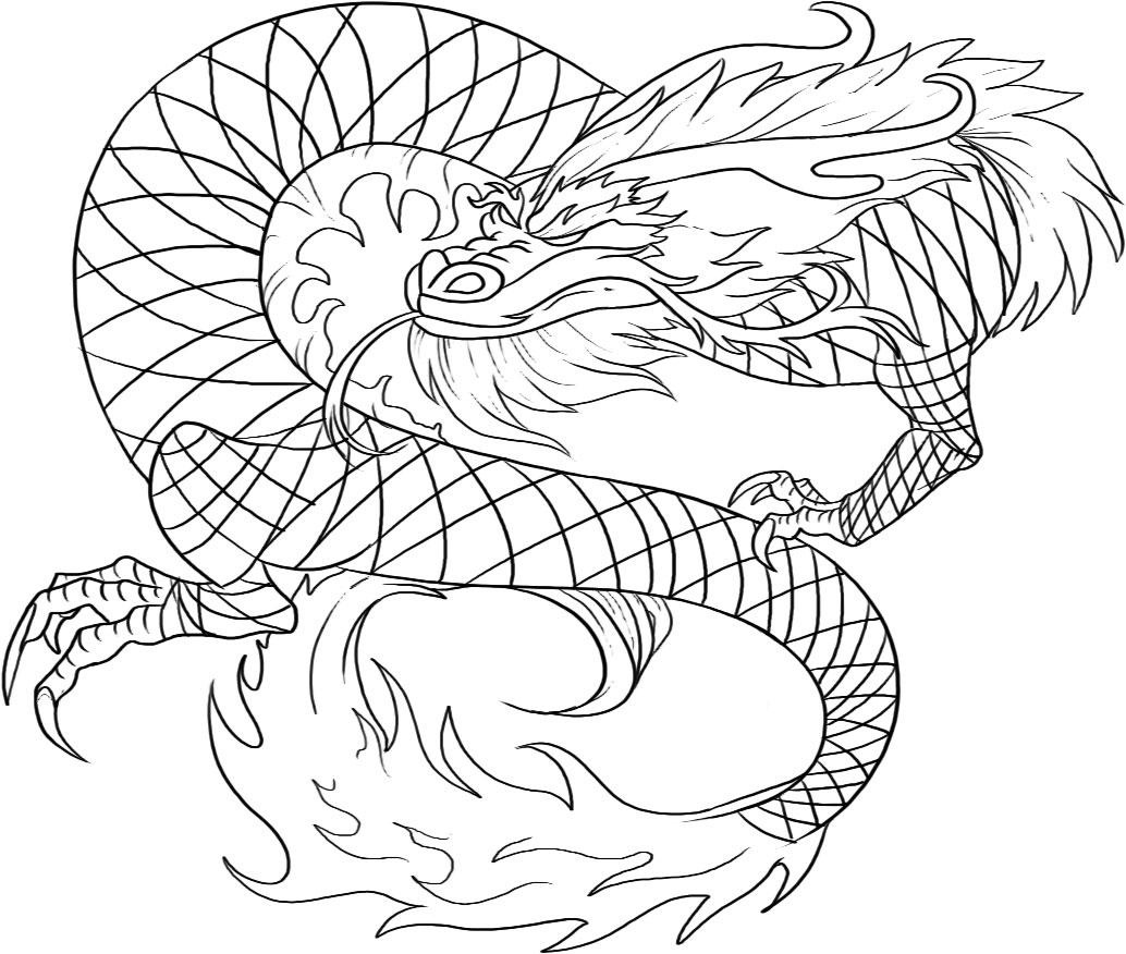 Chinese Dragon coloring #12, Download drawings