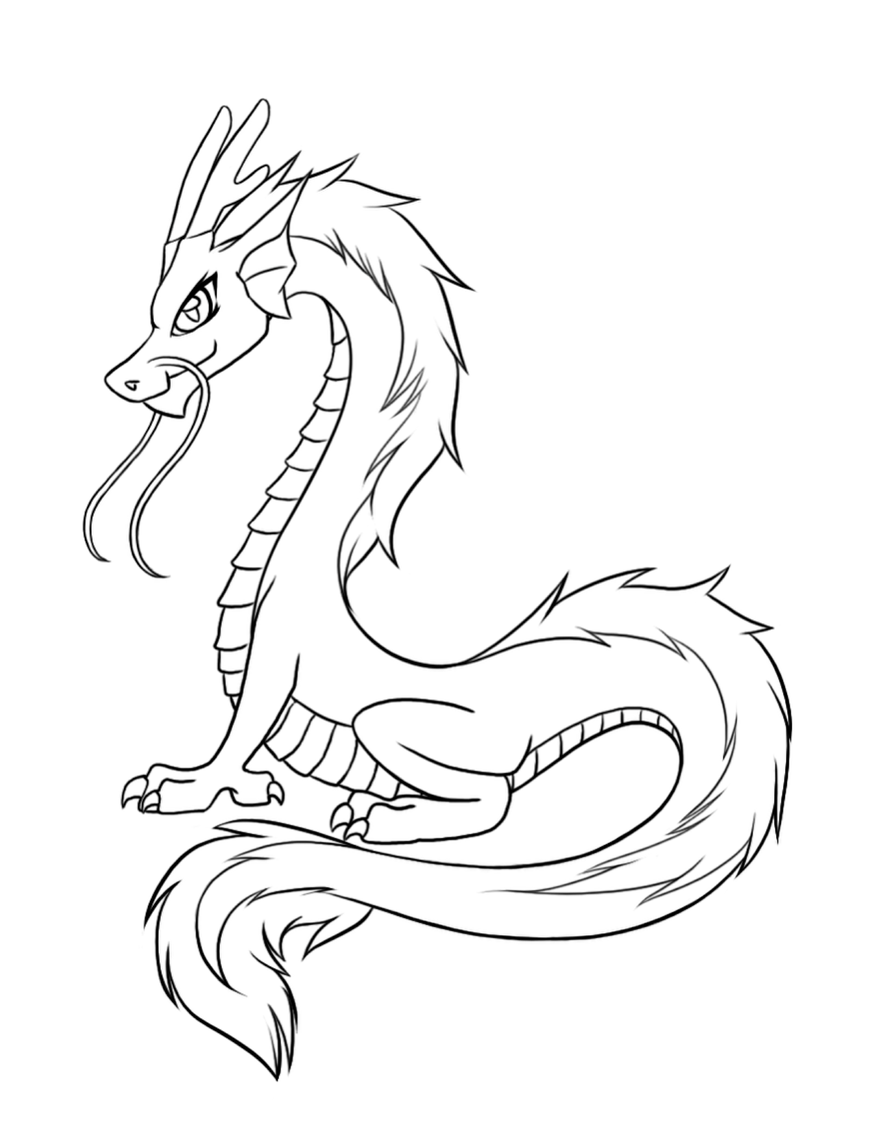 Chinese Dragon coloring #11, Download drawings
