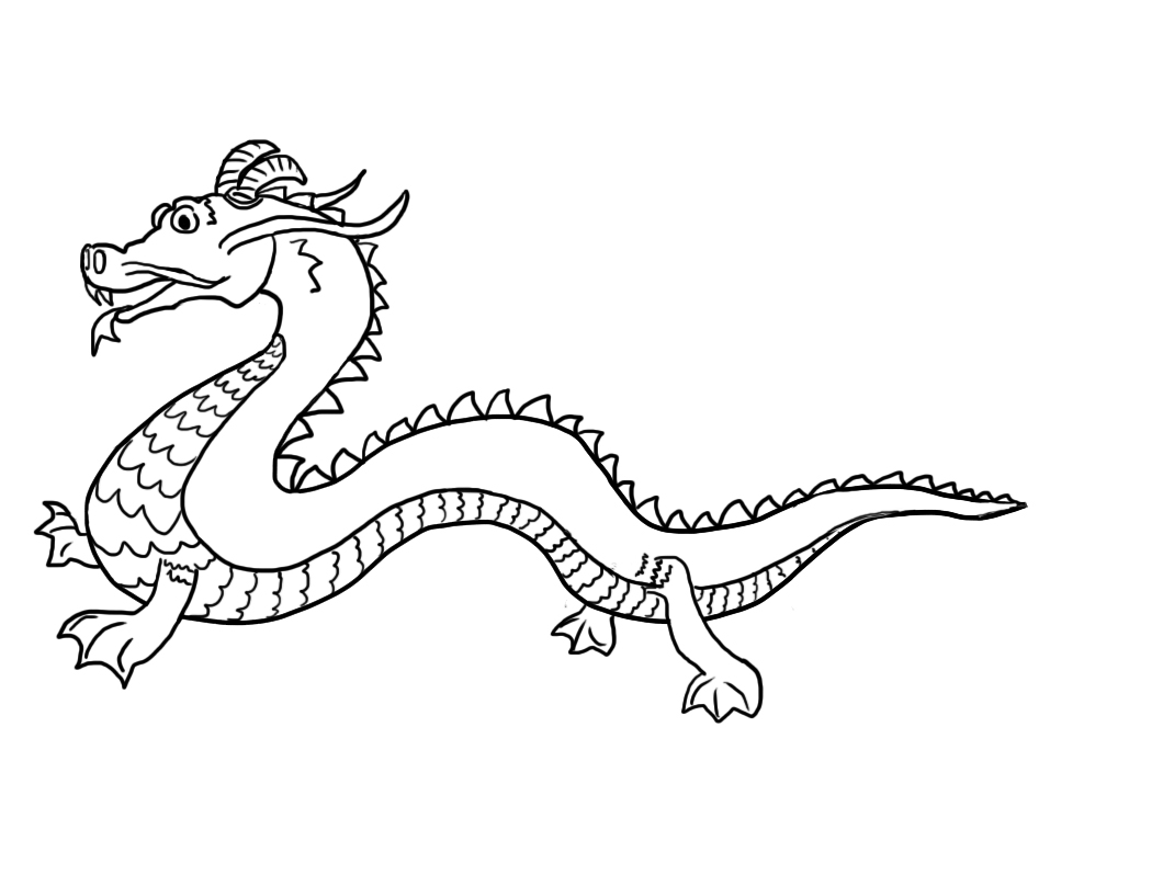 Chinese Dragon coloring #19, Download drawings