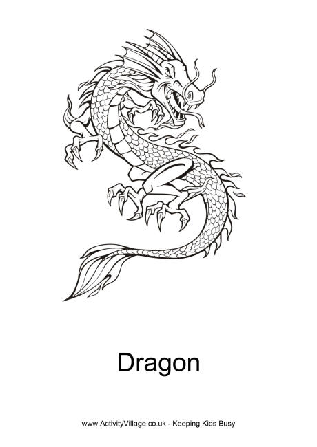 Chinese Dragon coloring #8, Download drawings