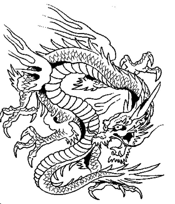 Chinese Dragon coloring #3, Download drawings