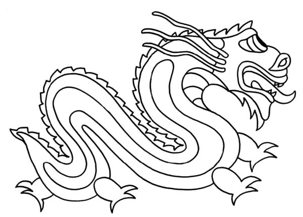 Chinese Dragon coloring #4, Download drawings