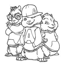Chipmunk coloring #19, Download drawings