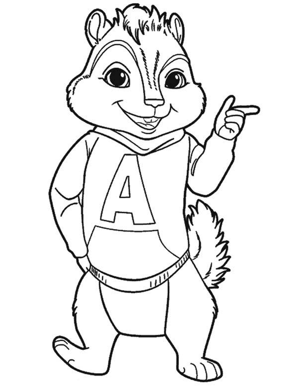 Chipmunk coloring #13, Download drawings