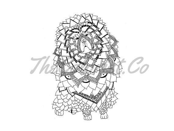 Chow Chow coloring #7, Download drawings
