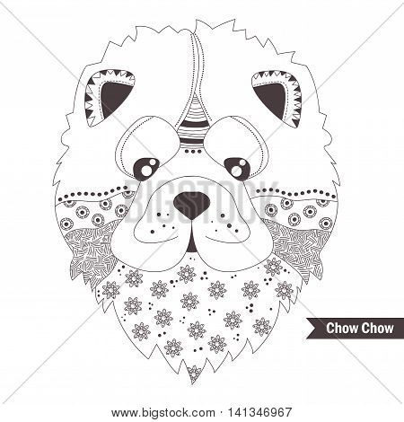Chow Chow coloring #10, Download drawings