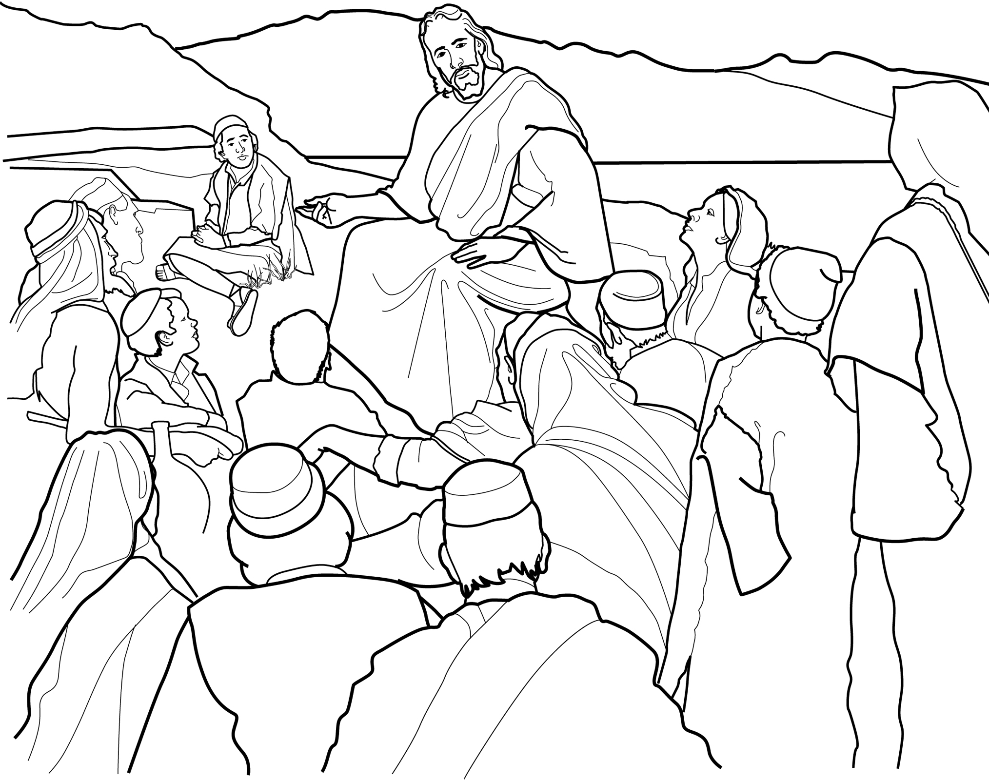 Christ coloring #4, Download drawings