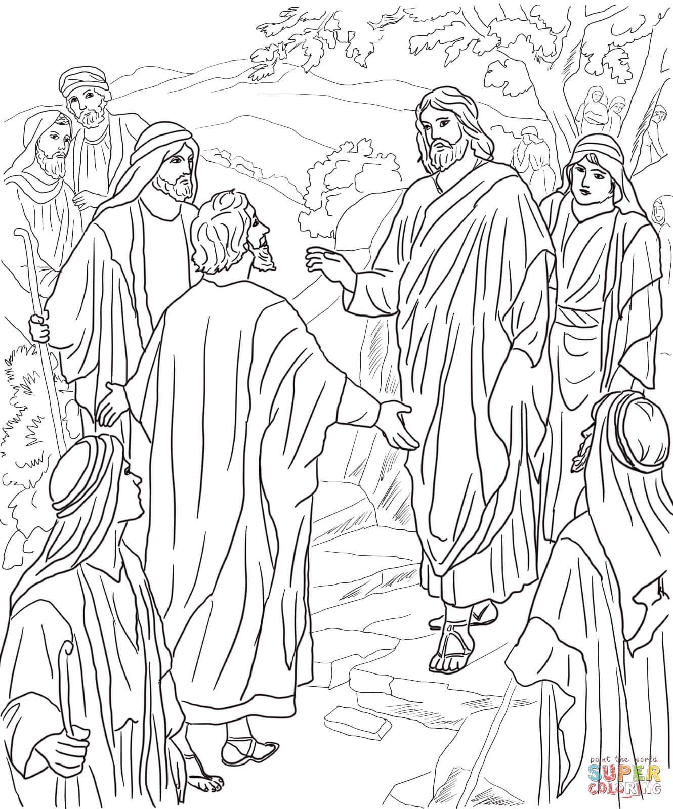 Christ coloring #5, Download drawings