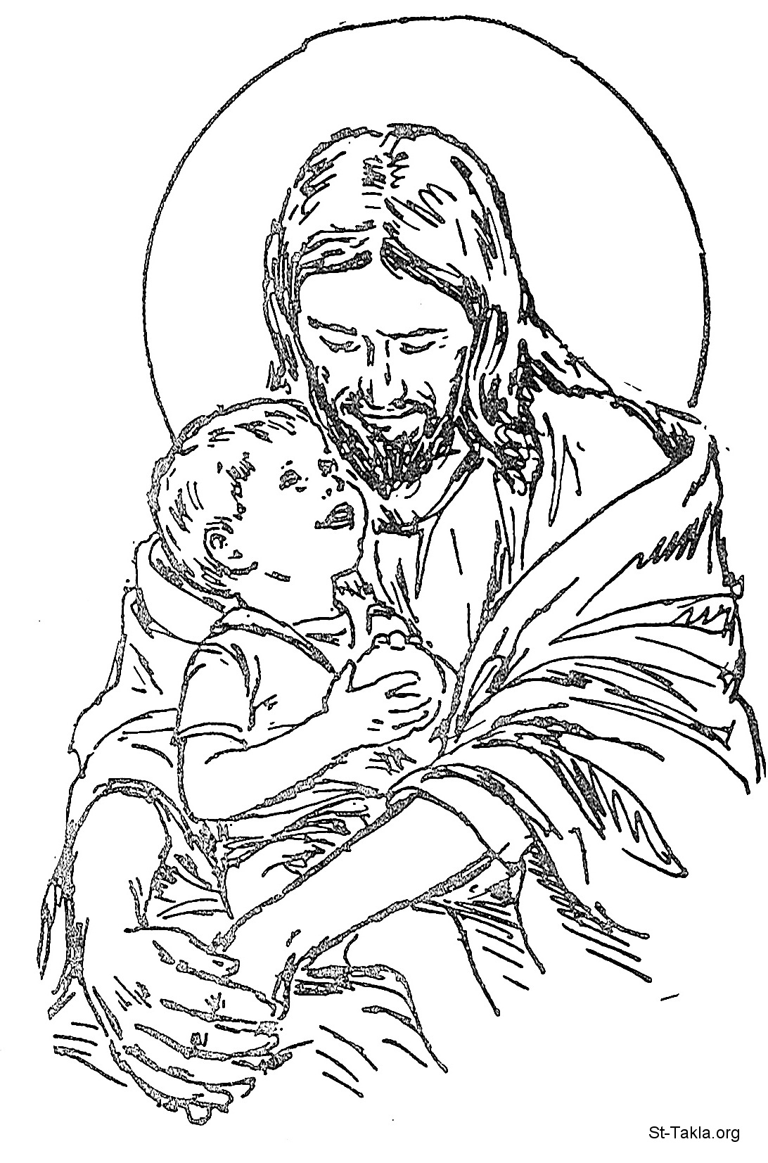 Christ coloring #1, Download drawings