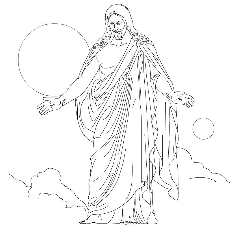 Christ coloring #20, Download drawings