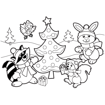 Christmas coloring #19, Download drawings